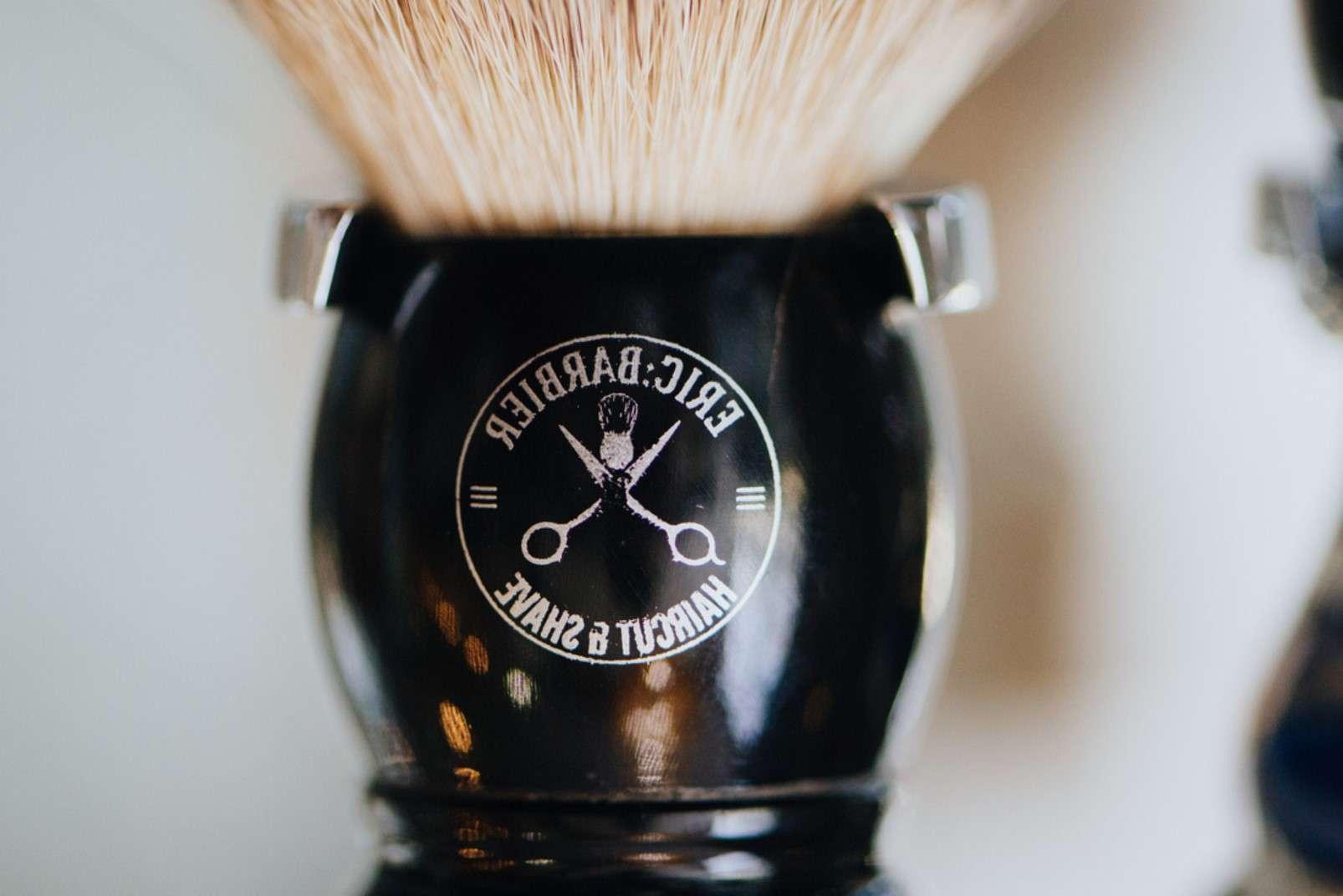 Eric:Barbier Haircut and Shave Hamburg shaving brush
