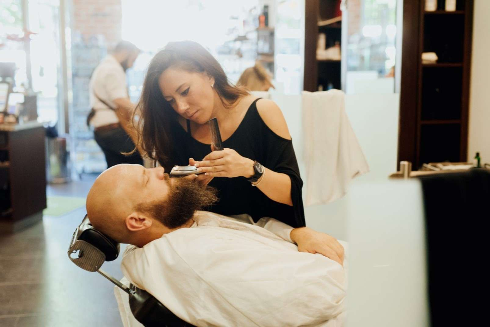 Eric:Barbier Haircut & Shave Hamburg wet shaving