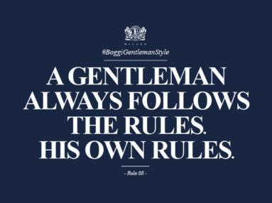 Boggi Milano rules