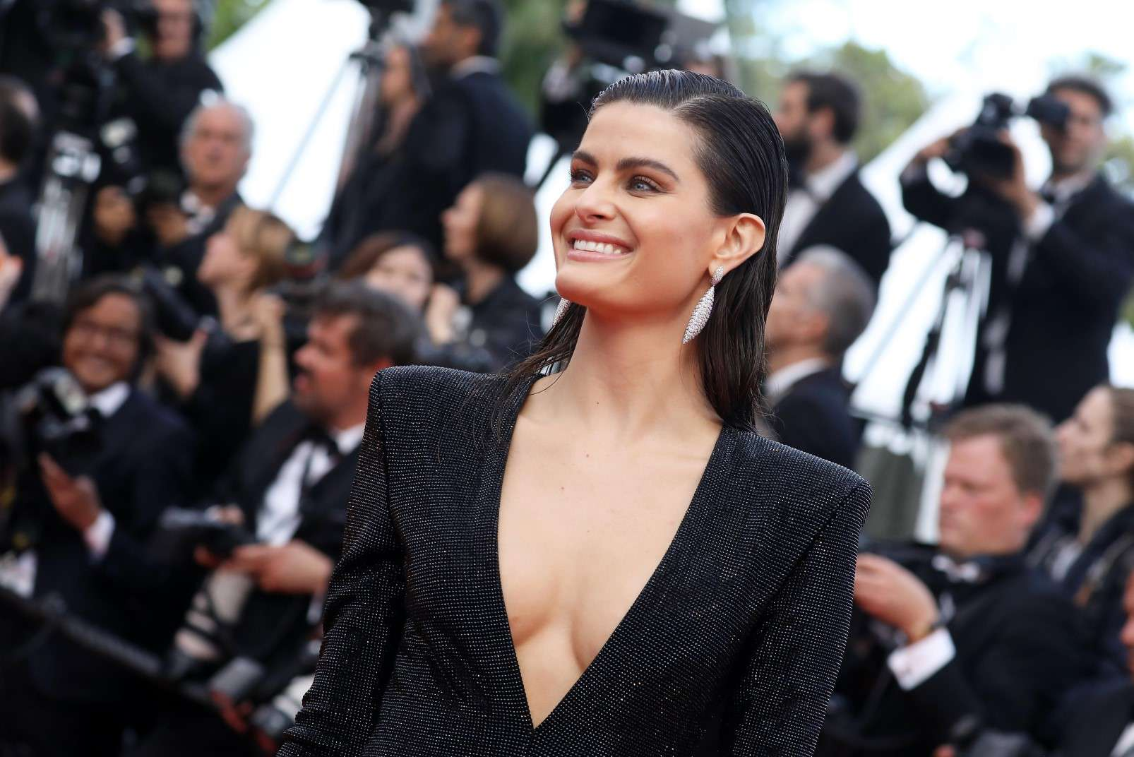 Cannes 2018, Isabeli Fontana wearing de Grisogono jewellery, photo courtesy of de Grisogono