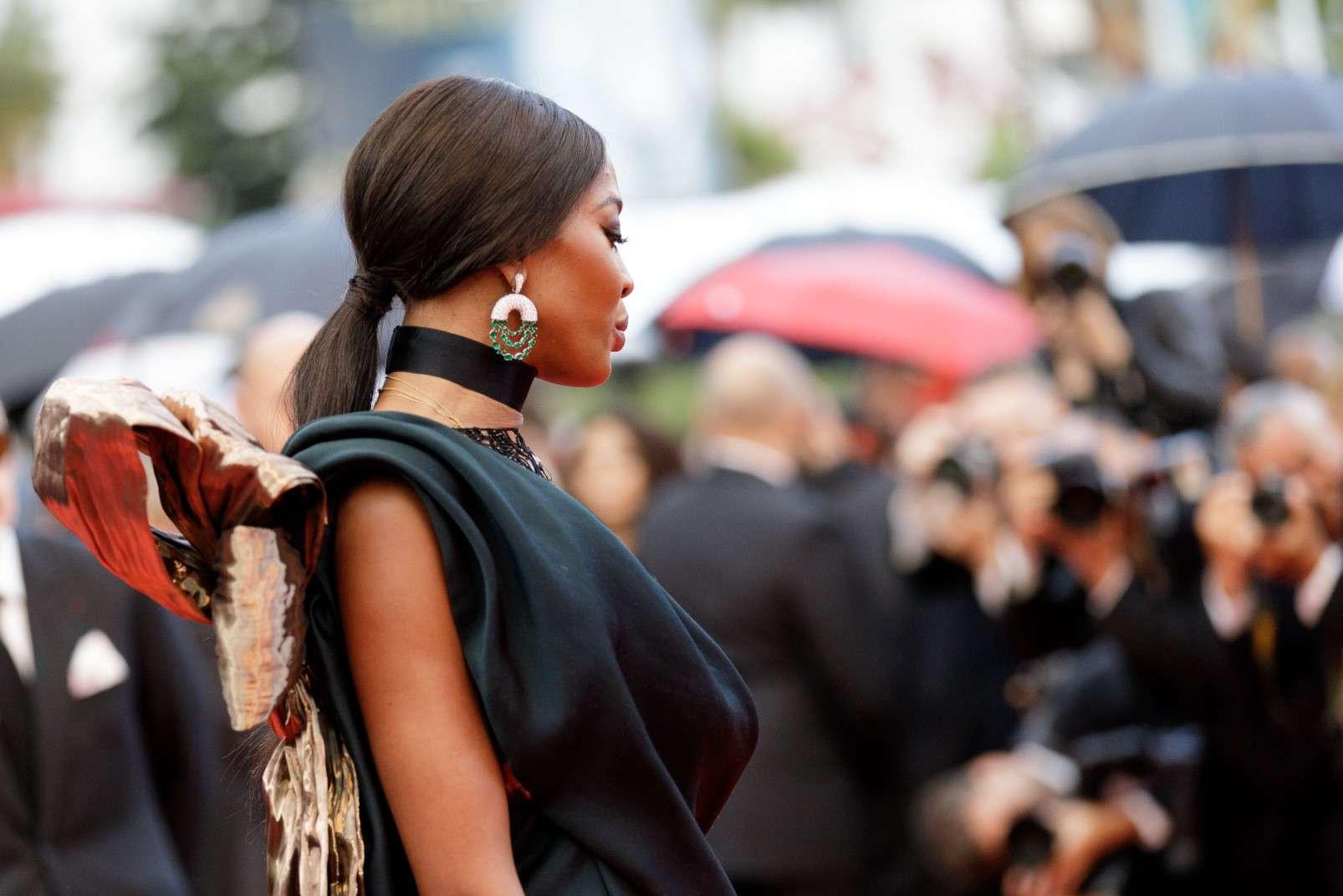 Cannes 2018, Naomi Campbell wearing de Grisogono jewellery, photo courtesy of de Grisogono