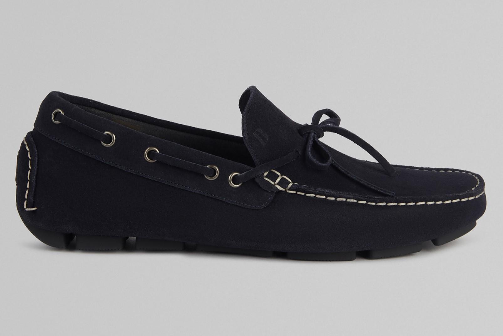Suede loafer navy Boggi Milano