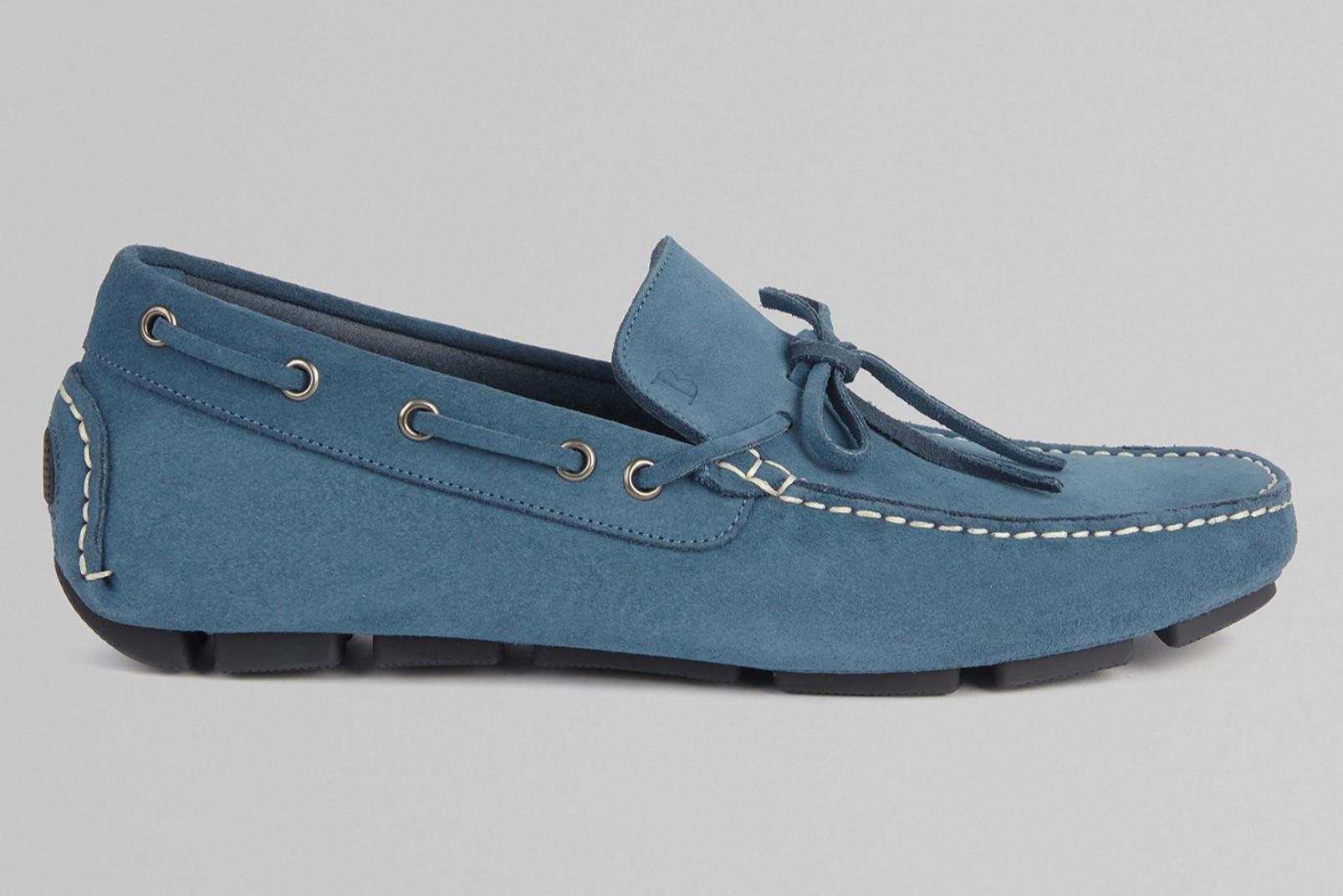 Suede loafer light blue Boggi Milano