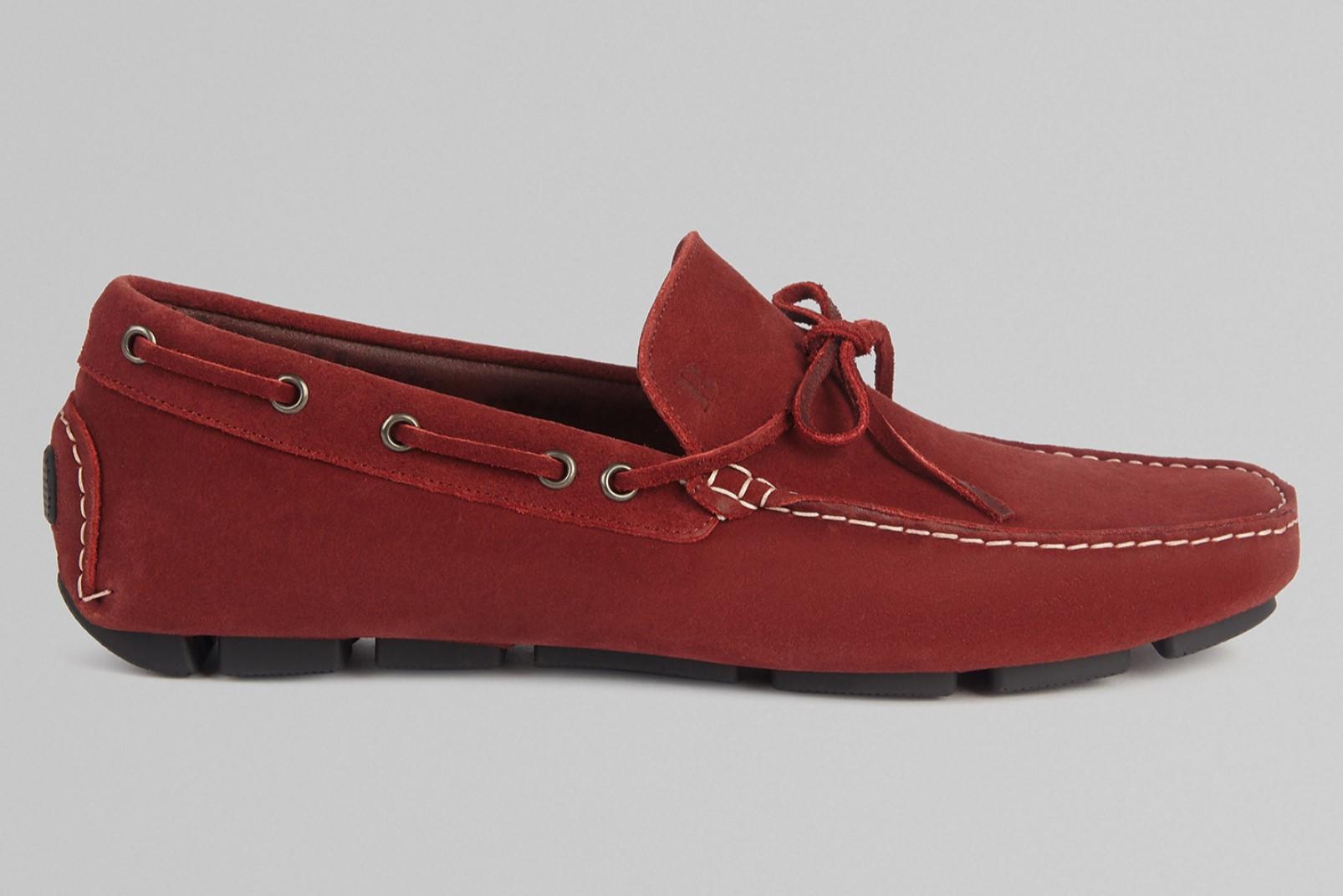 Suede loafer bordeaux Boggi Milano
