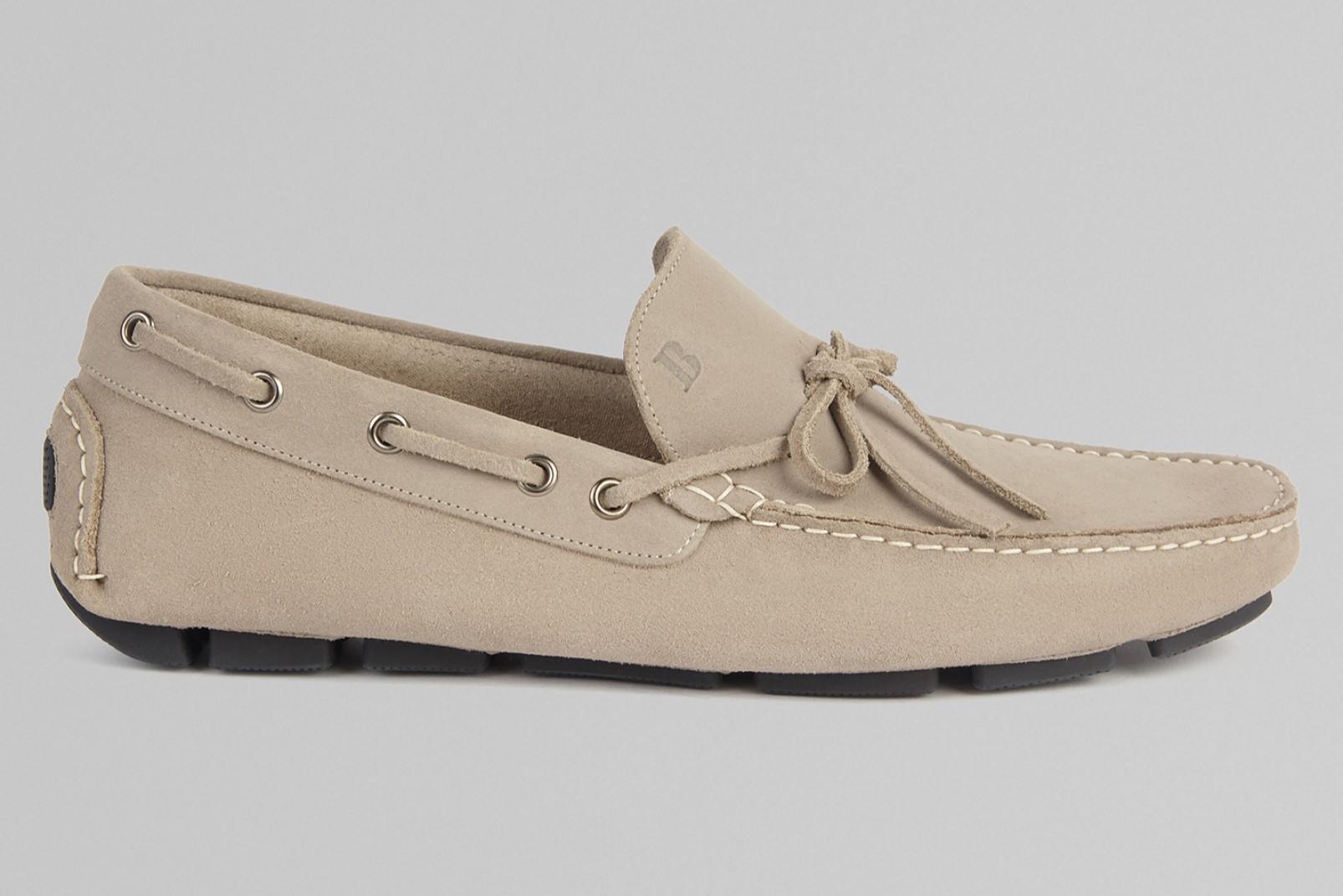 Suede loafer beige Boggi Milano