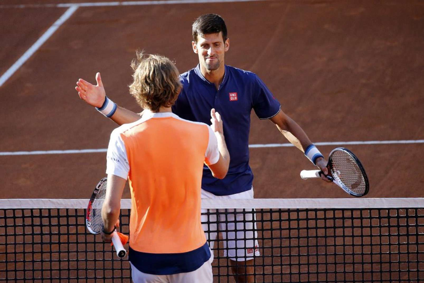 Novak Djokovic e Alexander Zverev, finali 2017, foto di Giampiero Sposito, gentilmente fornita da internazionalibnlditalia.com