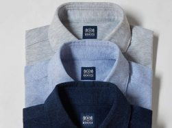 Boggi Milano long-sleeved polo shirts