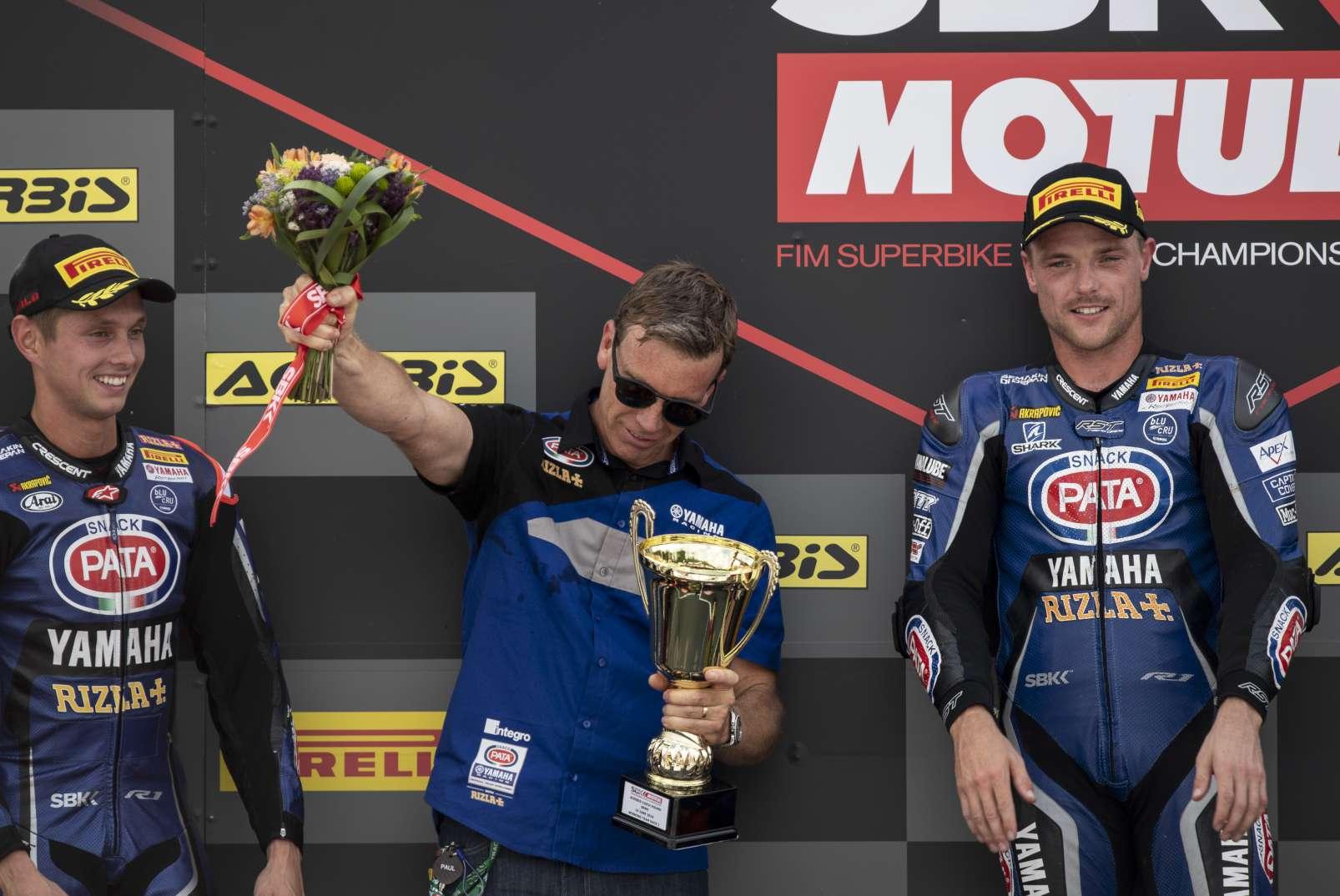 Brno WorldSBK Alex Lowes Michael van der Mark Paul Denning