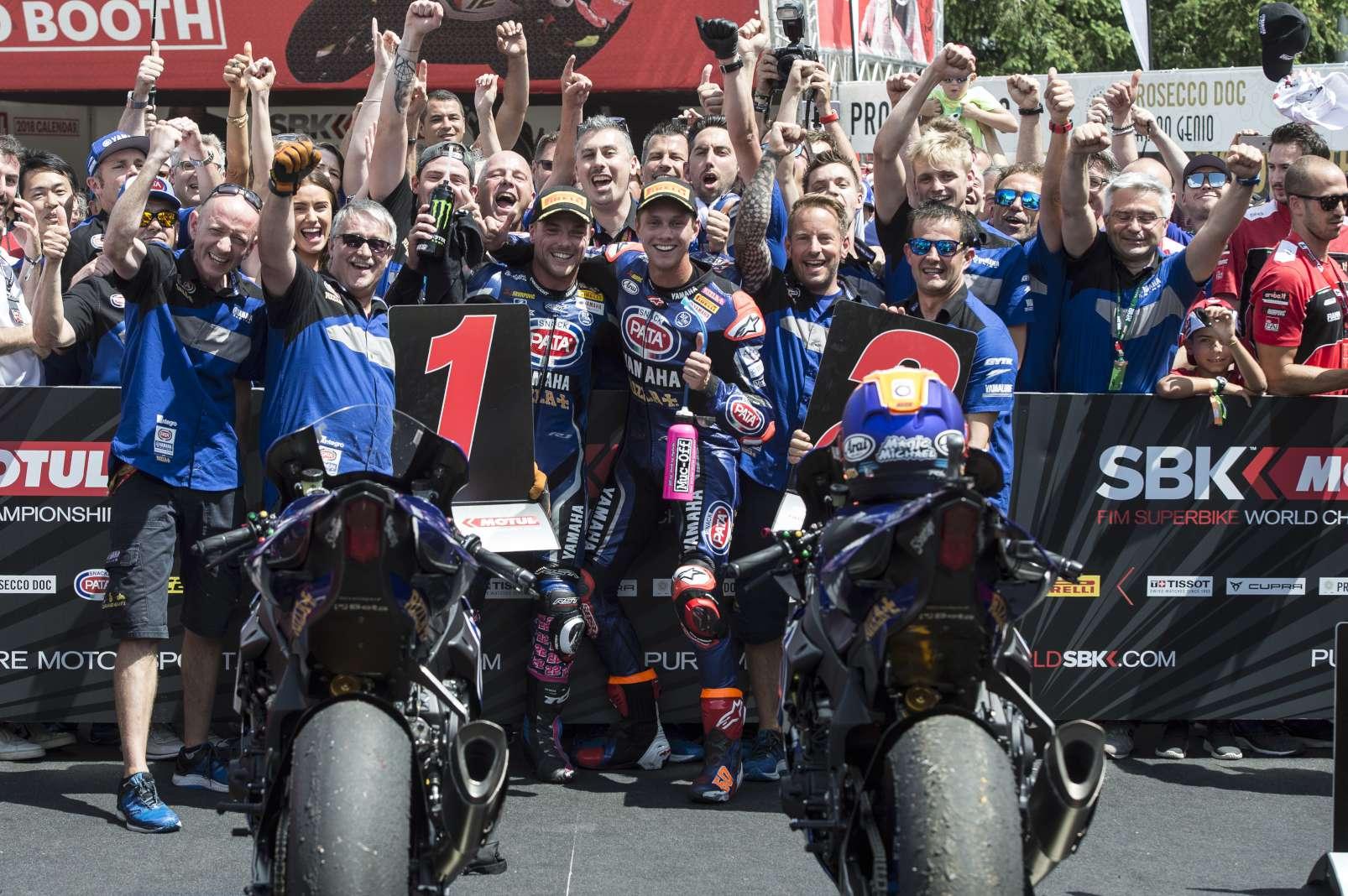 Brno WorldSBK Alex Lowes Michael van der Mark