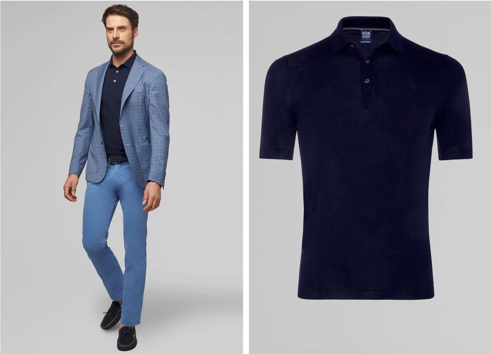 Boggi Milano polo shirt BO19P119202 Aria blazer BO19P101002
