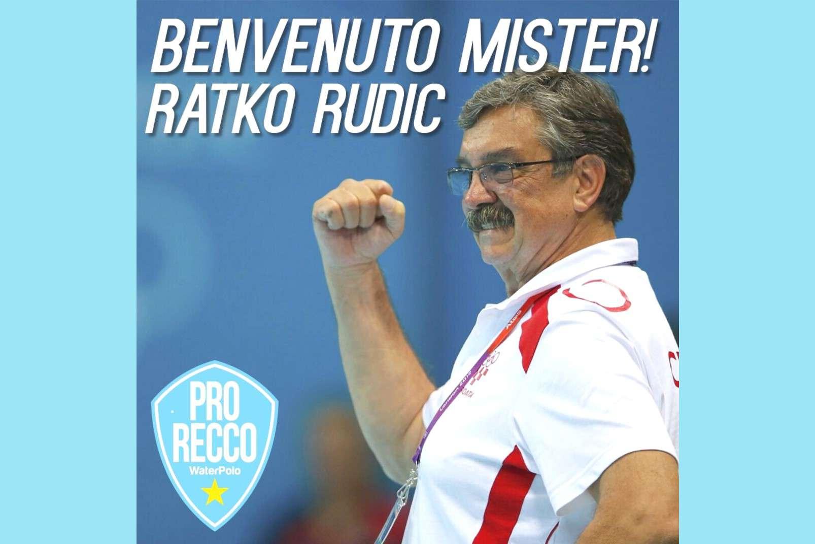 Ratko Rudic, nuovo allenatore della Pro Recco WaterPolo 1913