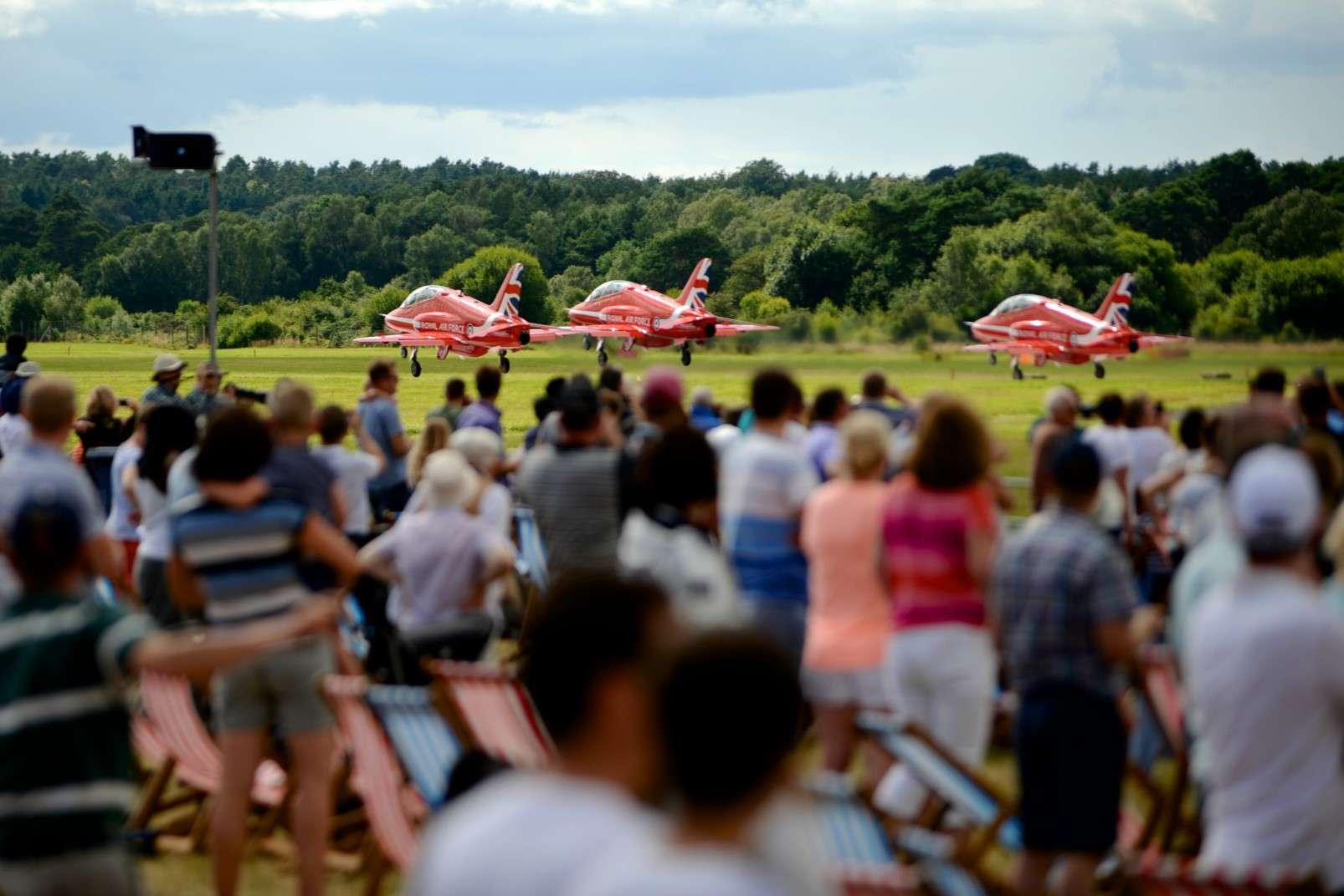 Farnborough International Airshow 16-22 July 2018 Red Arrows