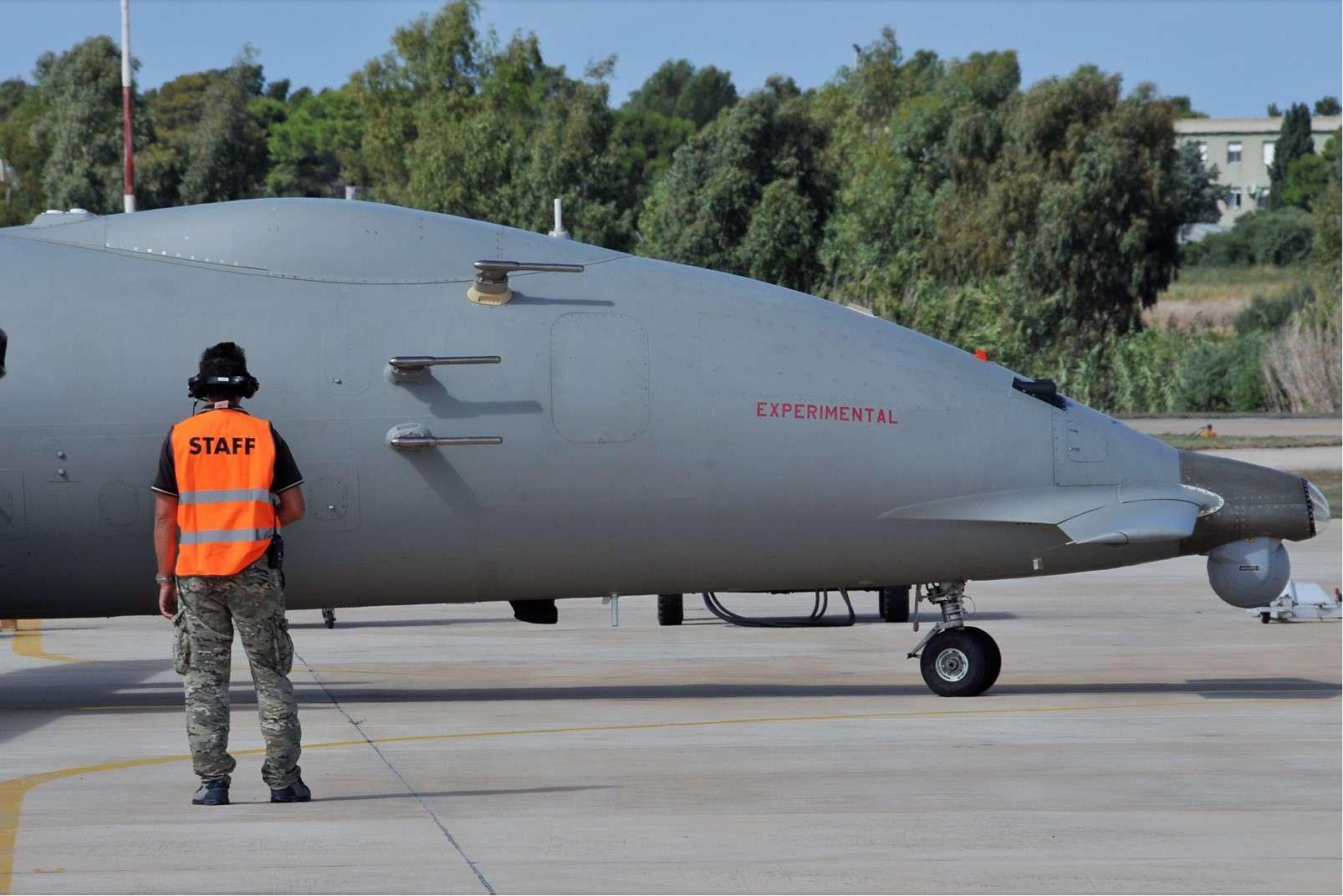 Farnborough International Airshow 16-22 July 2018, Piaggio remotely-piloted Medium Altitude Long Endurance vehicle