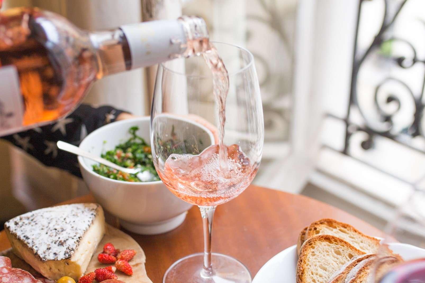 Vino rosé and aperitifs