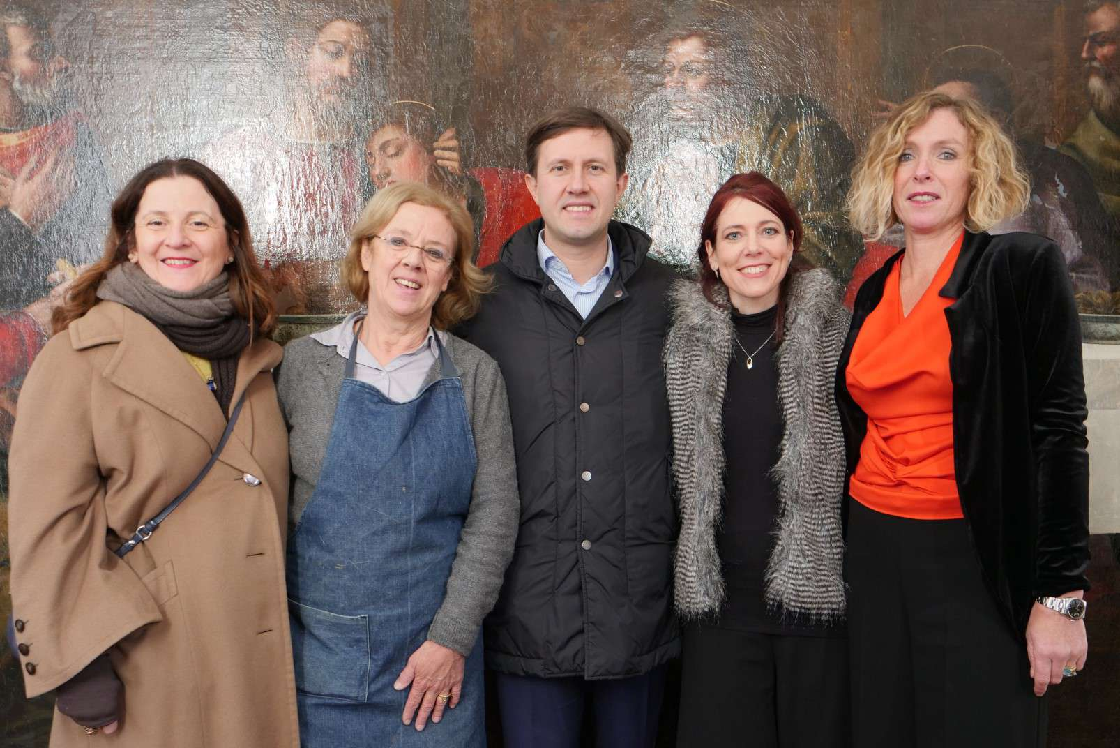 Last Supper by Plautilla Nelli - Adopt an Apostle - Advancing Women Artists with Florence Mayor Dario Nardella and Vice Mayor Cristina Giachi
