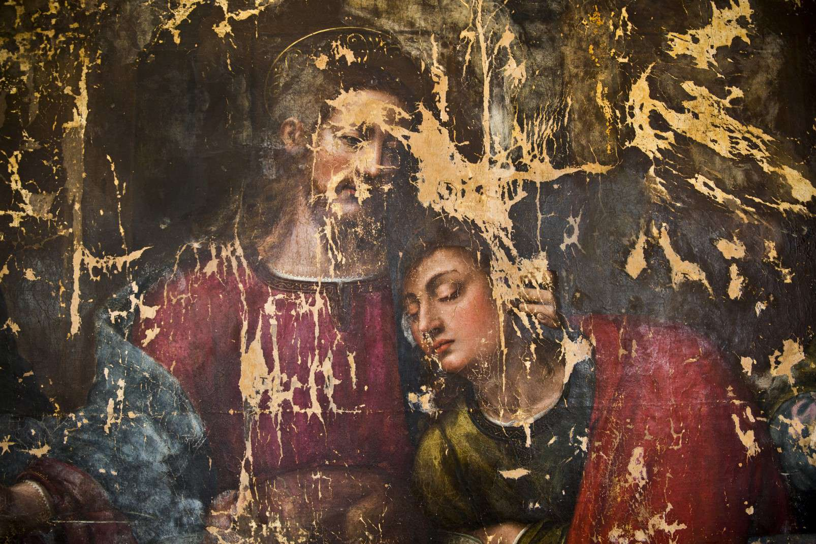 Adopt an Apostle - Detail of Christ and Saint John - Last Supper by Plautilla Nelli