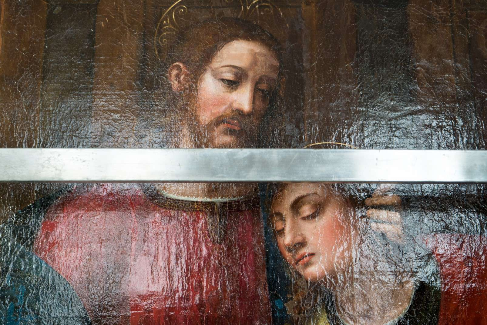 Last Supper by Plautilla Nelli - Adopt an Apostle - Detail of Christ and Saint John phase II