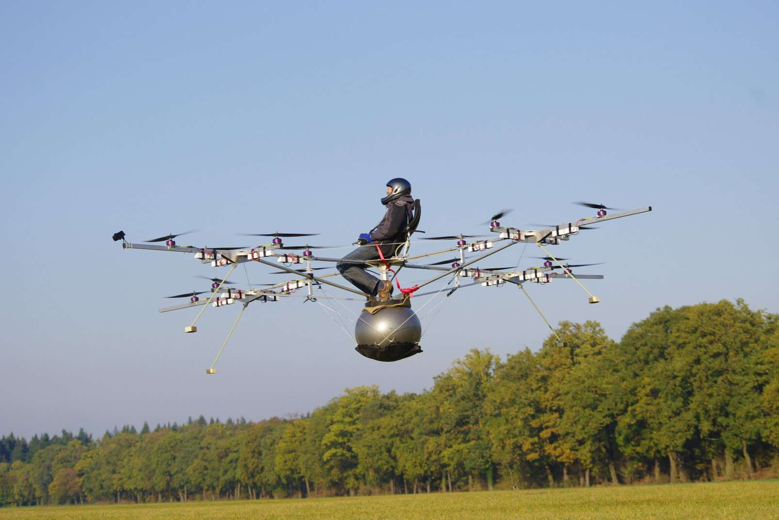 First flight of the first Volocopter prototype passenger-carrying drone