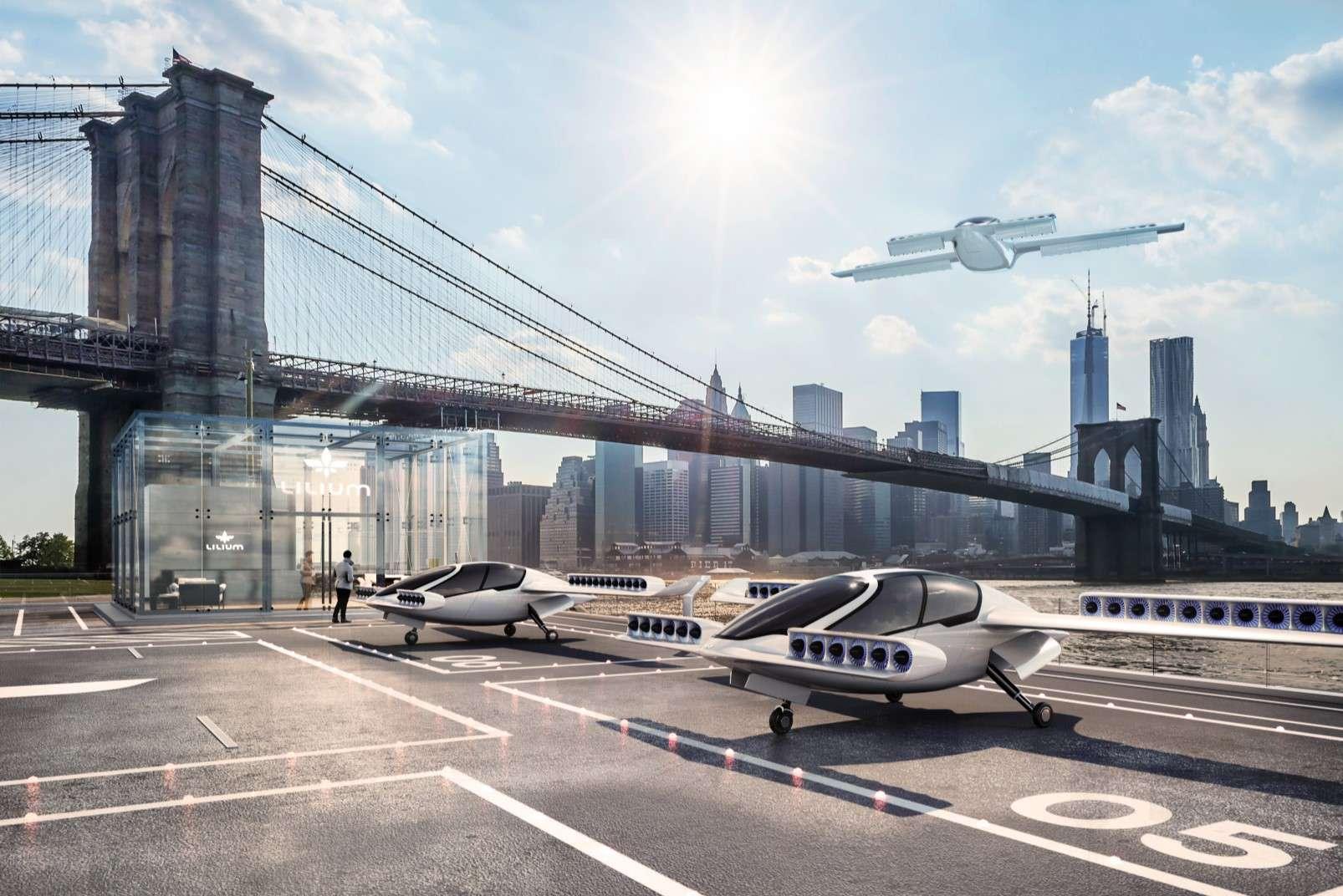 Lilium passenger-carrying drone landing-pad pier