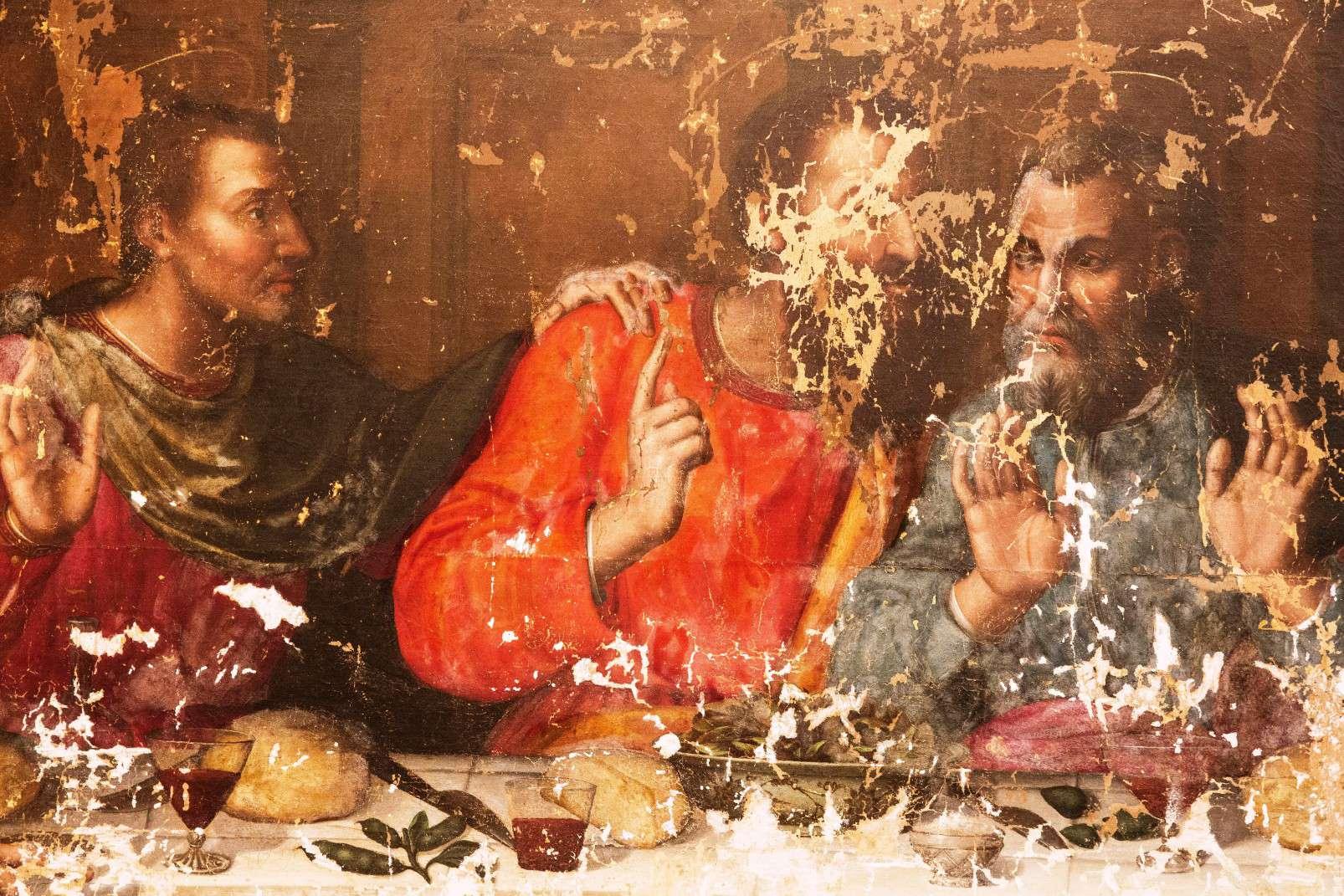Last Supper by Plautilla Nelli - Adopt an Apostle - Saint Thomas awaits 'adoption', photo by Kirsten Hills