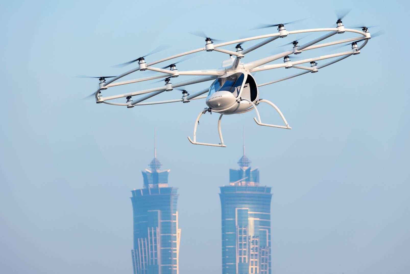 Volocopter passenger-carrying drone Dubai