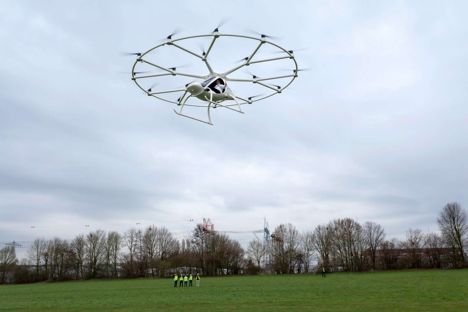 Volocopter passenger-carrying drone first flight