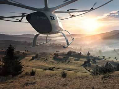 Volocopter passenger-carrying drone mountains