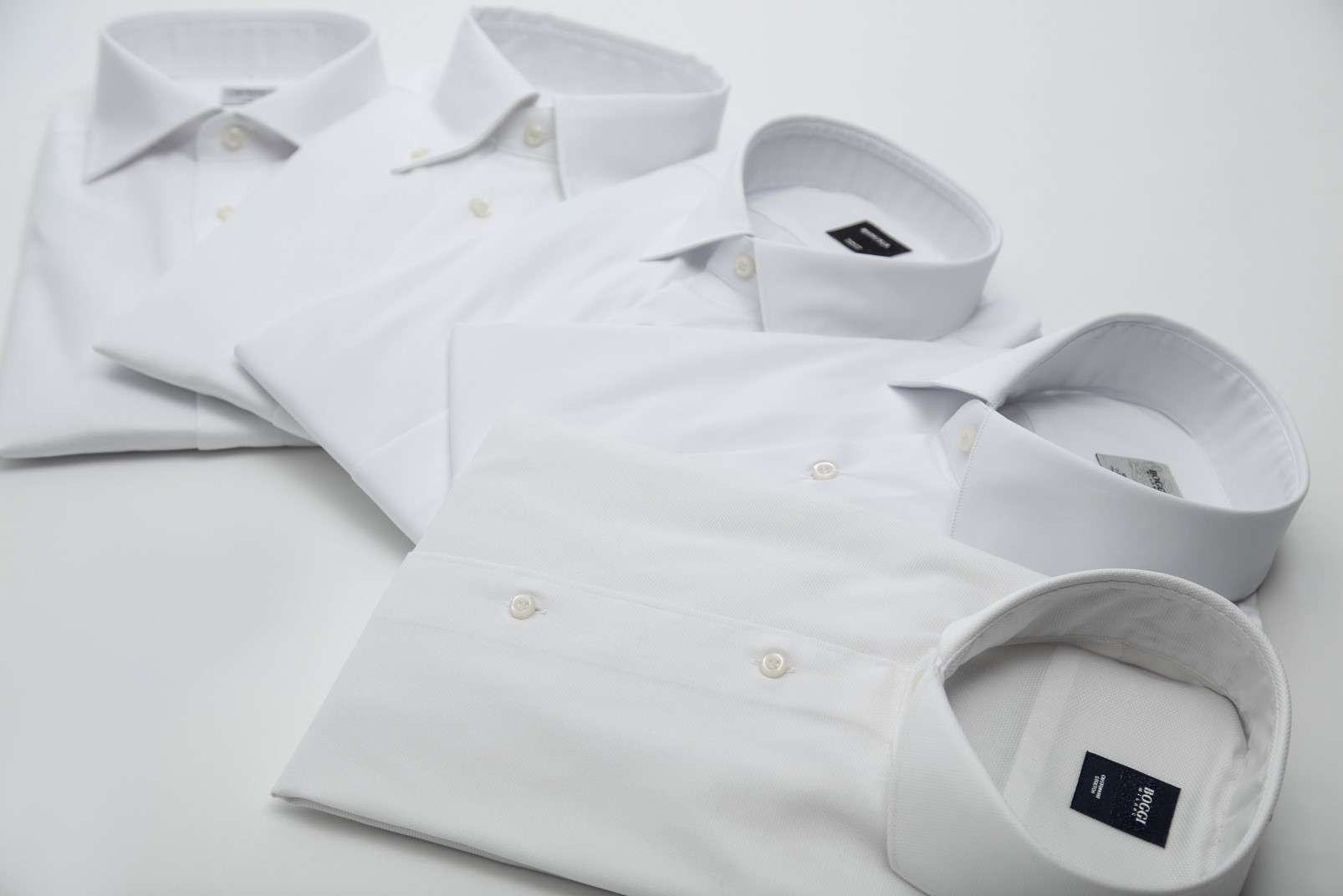 Boggi Milano shirts with some of the available collars