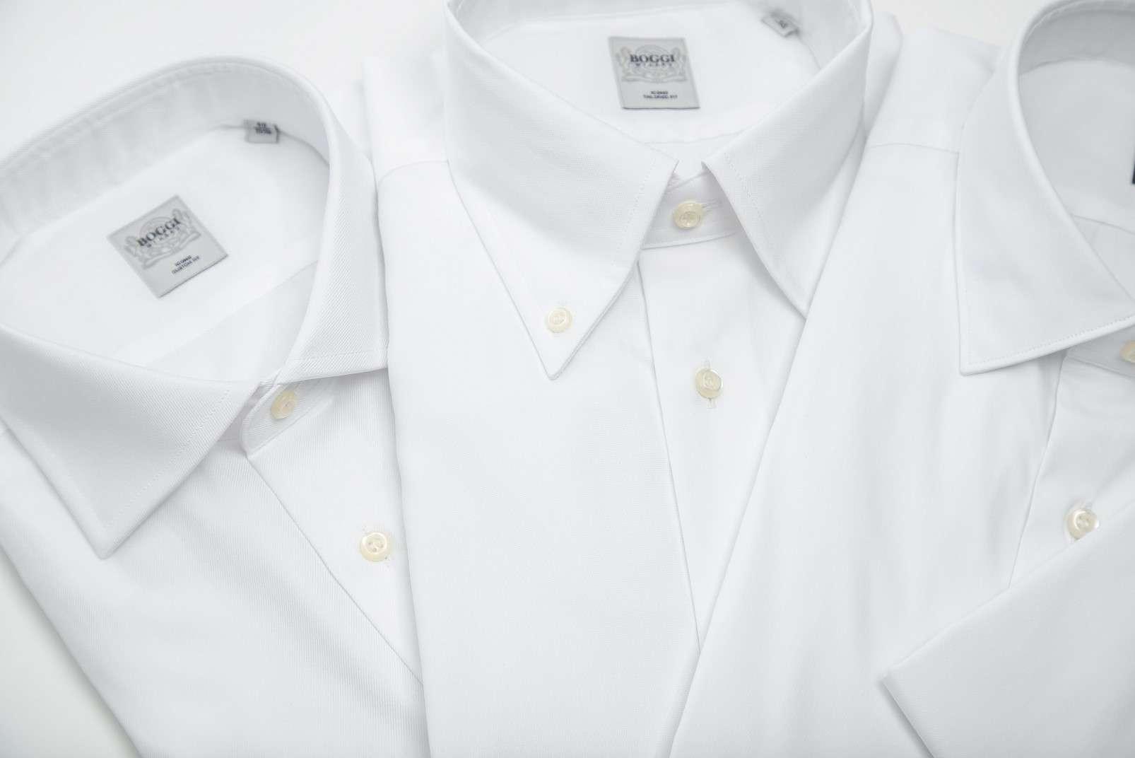 Boggi Milano shirts - open, button-down, closed