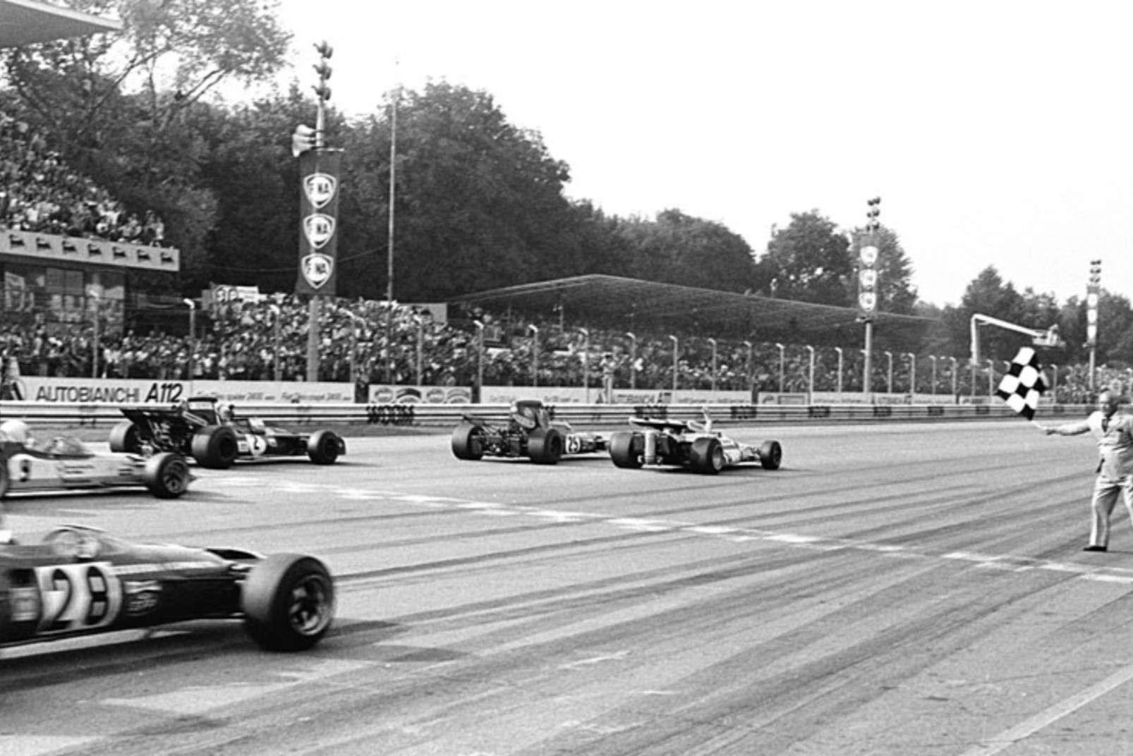 End of the 1971 Italian Grand Prix, Monza