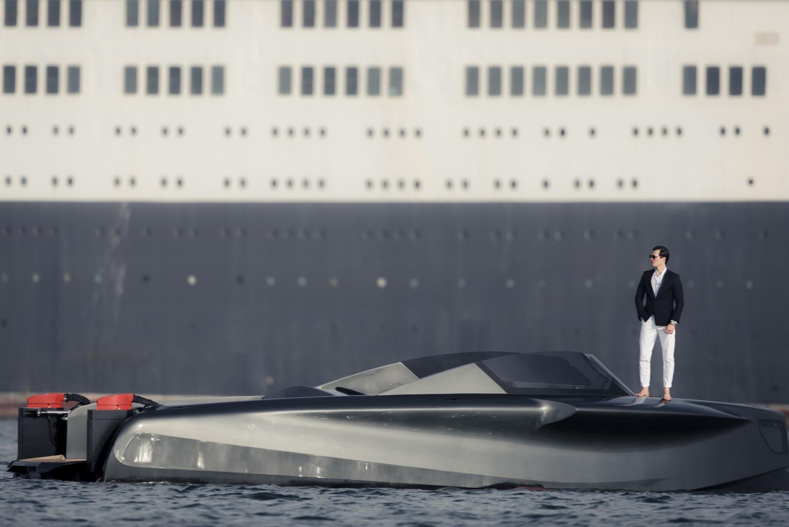 Foiler by Enata Marine futuristic lines