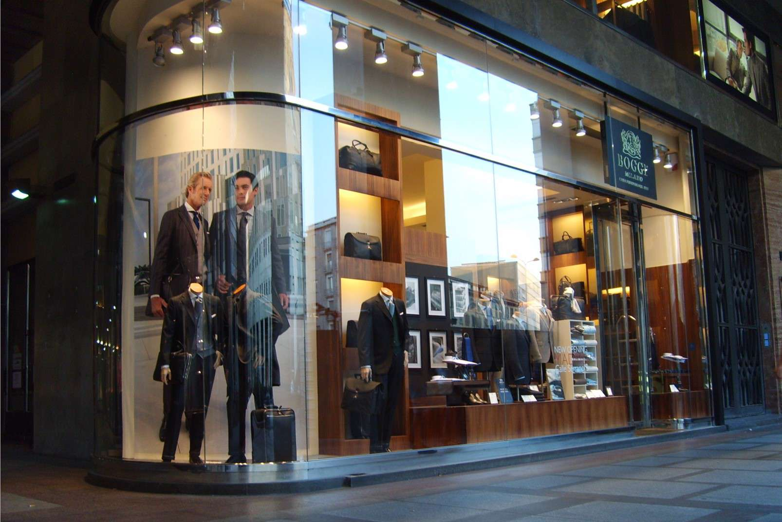 Boggi Milano flagship store in Piazza San Babila