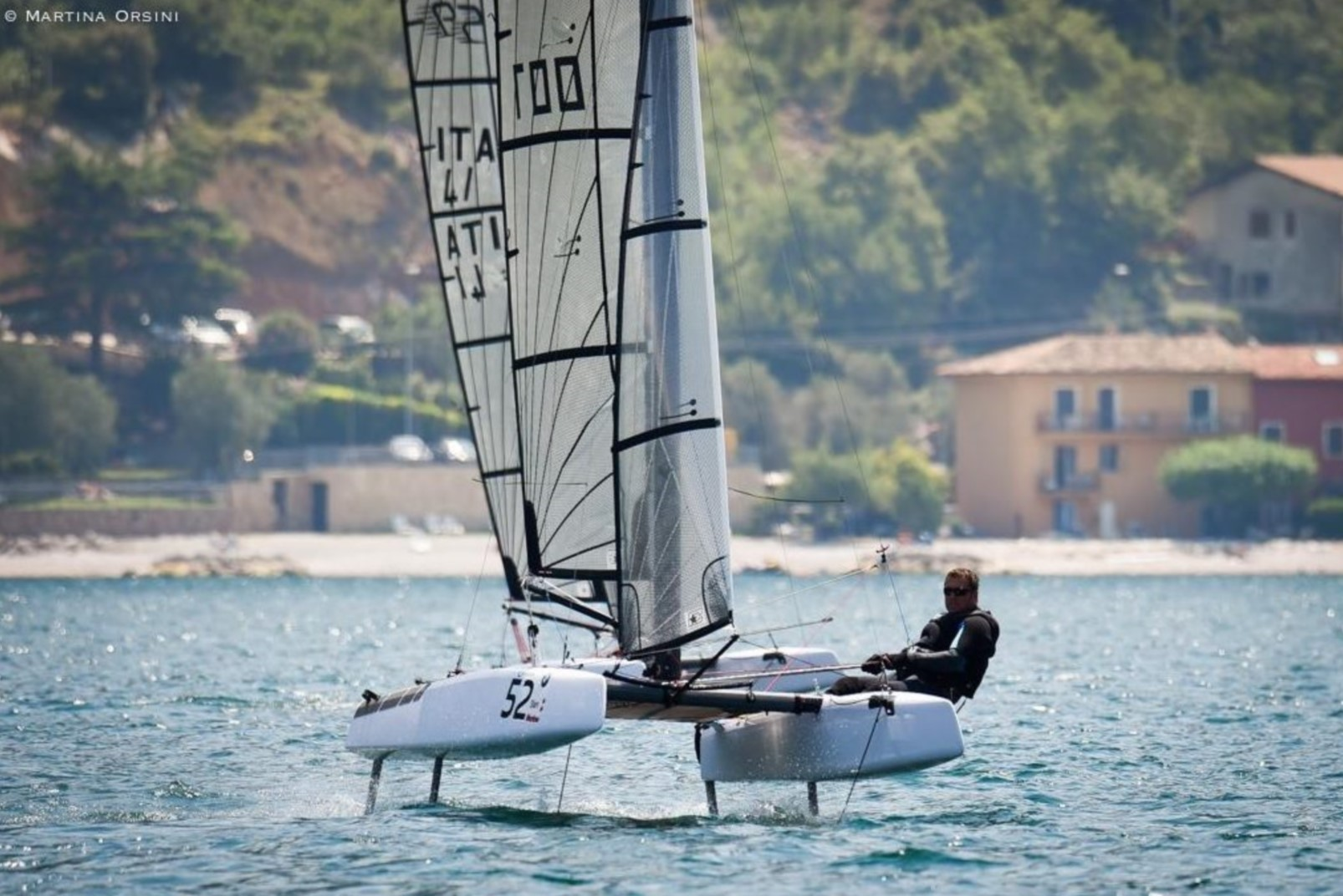 S9 catamaran foiling yacht