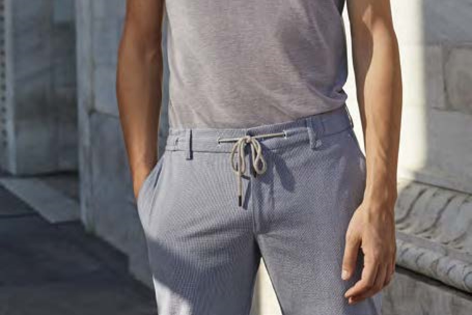 Boggi Milano trousers with drawstring