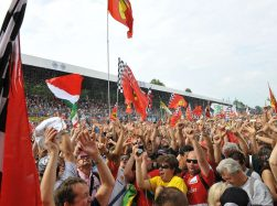 Ferrari tifosi at the Monza racetrack