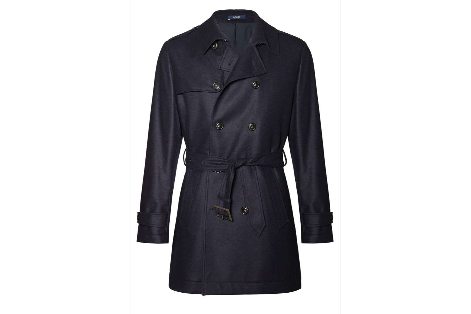 Boggi Milano double-breasted trench coat