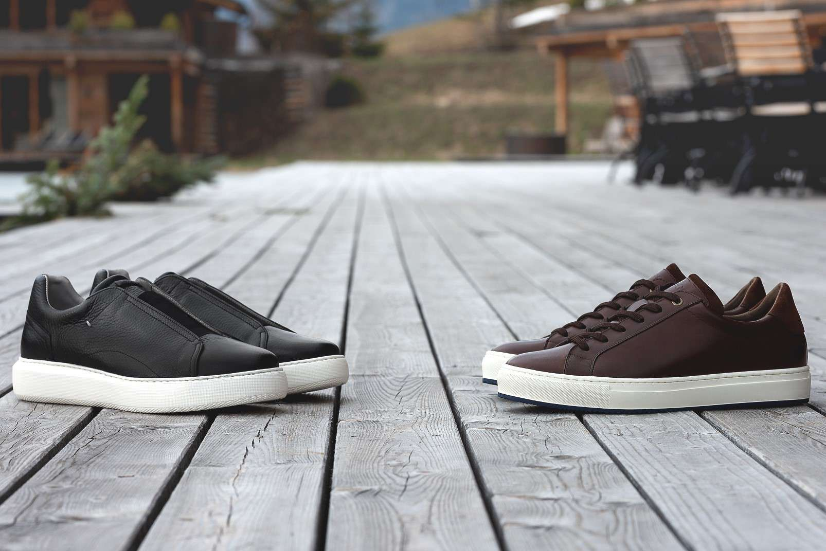 Boggi Milano sneakers in smooth leather