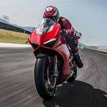 Ducati Panigale V4 on circuit