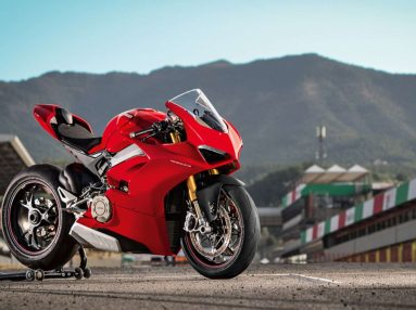 Ducati Panigale V4 at the factory