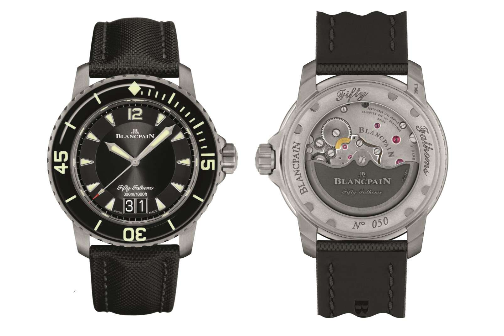 Blancpain Fifty Fathoms Grande Daten front back