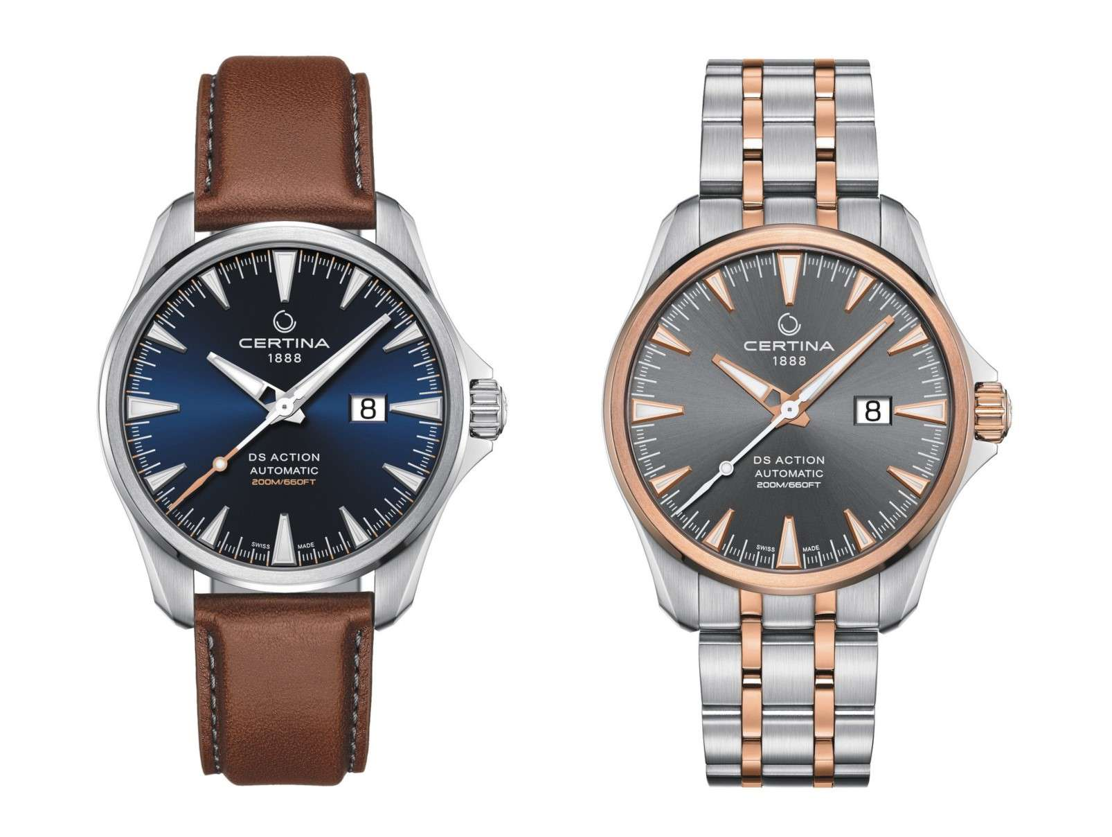 Certina DS Action Big Date Automatic 2 versions
