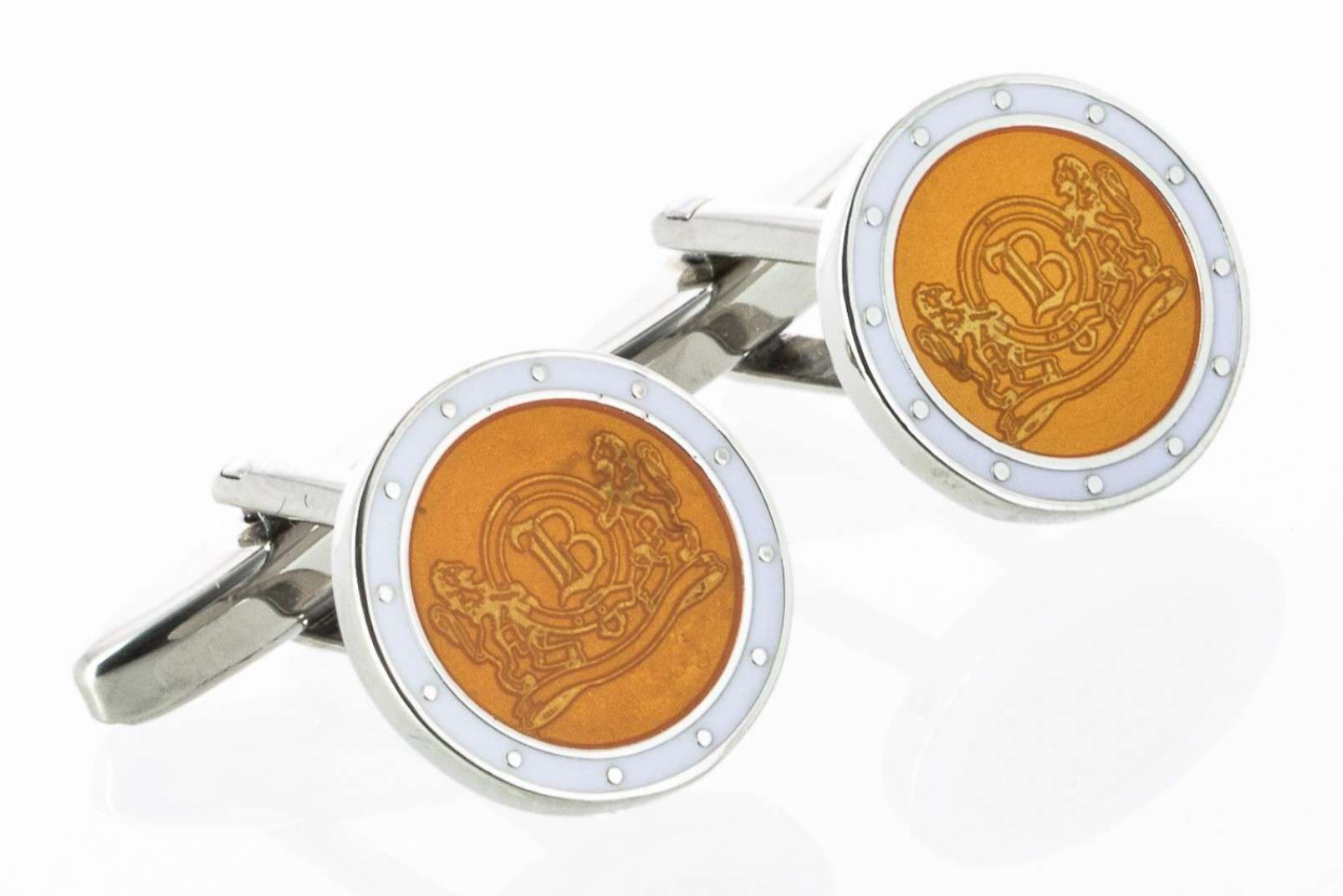 Boggi Milano yellow cufflinks with logo BO10C000302