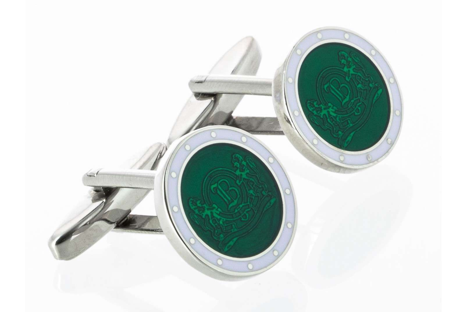 Boggi Milano green cufflinks with logo BO10C000303