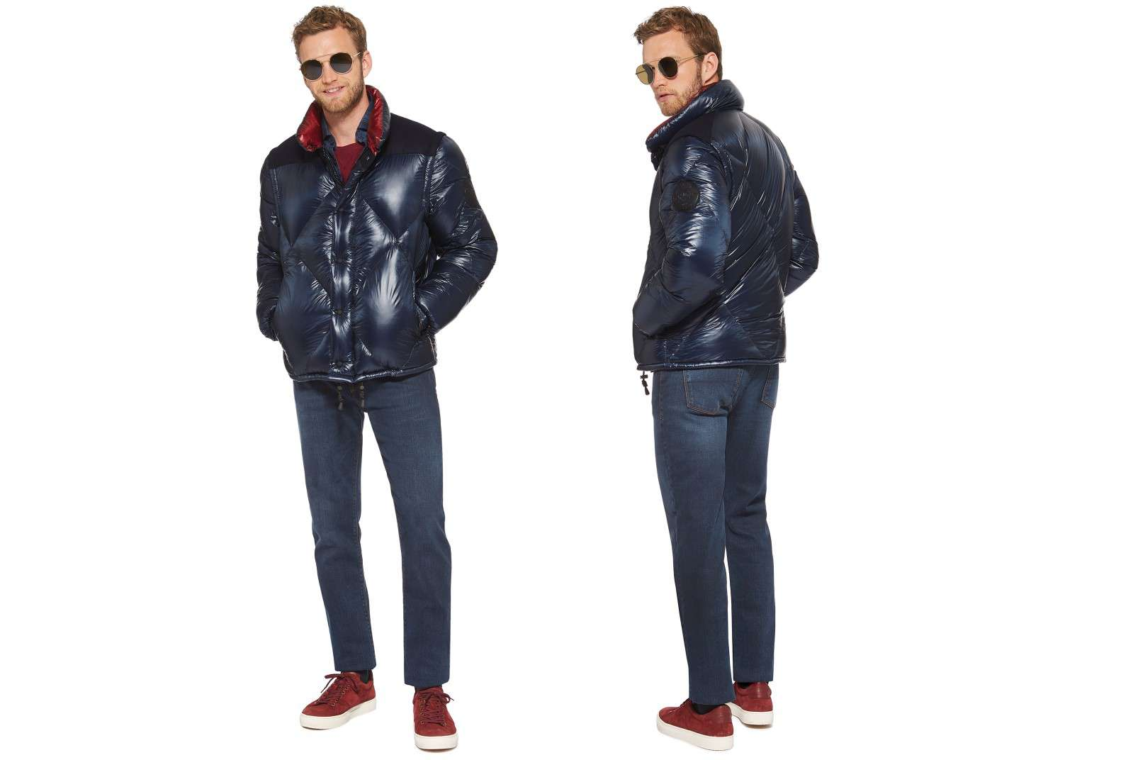 Boggi Milano bomber jacket BO18A011702 front and back
