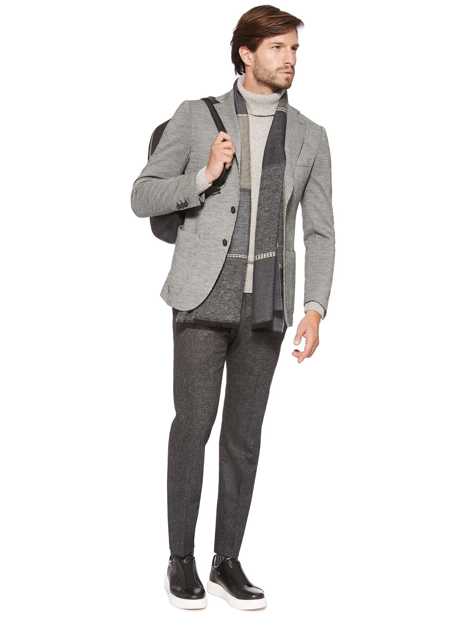 Light grey pure wool jacket