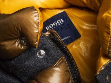Boggi Milano ochre bomber jacket BO18A011704 label