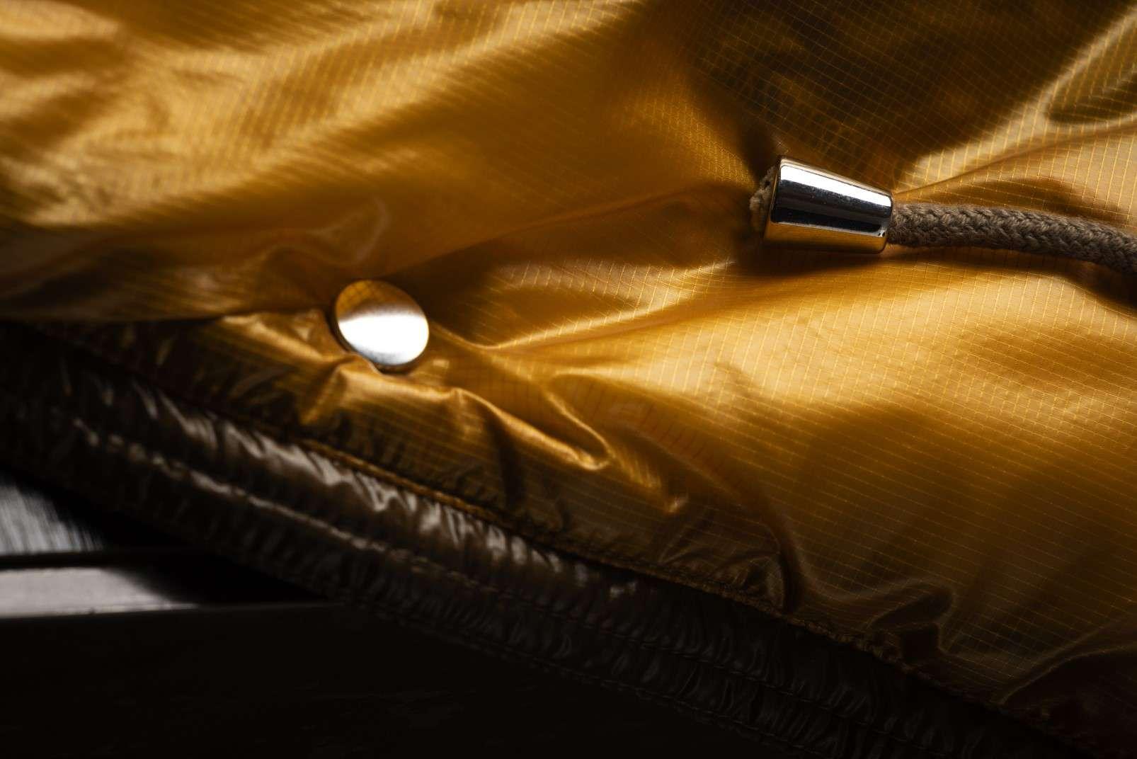Boggi Milano ochre bomber jacket BO18A011704 drawstring