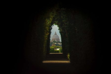 Rome, view towards St. Peter's