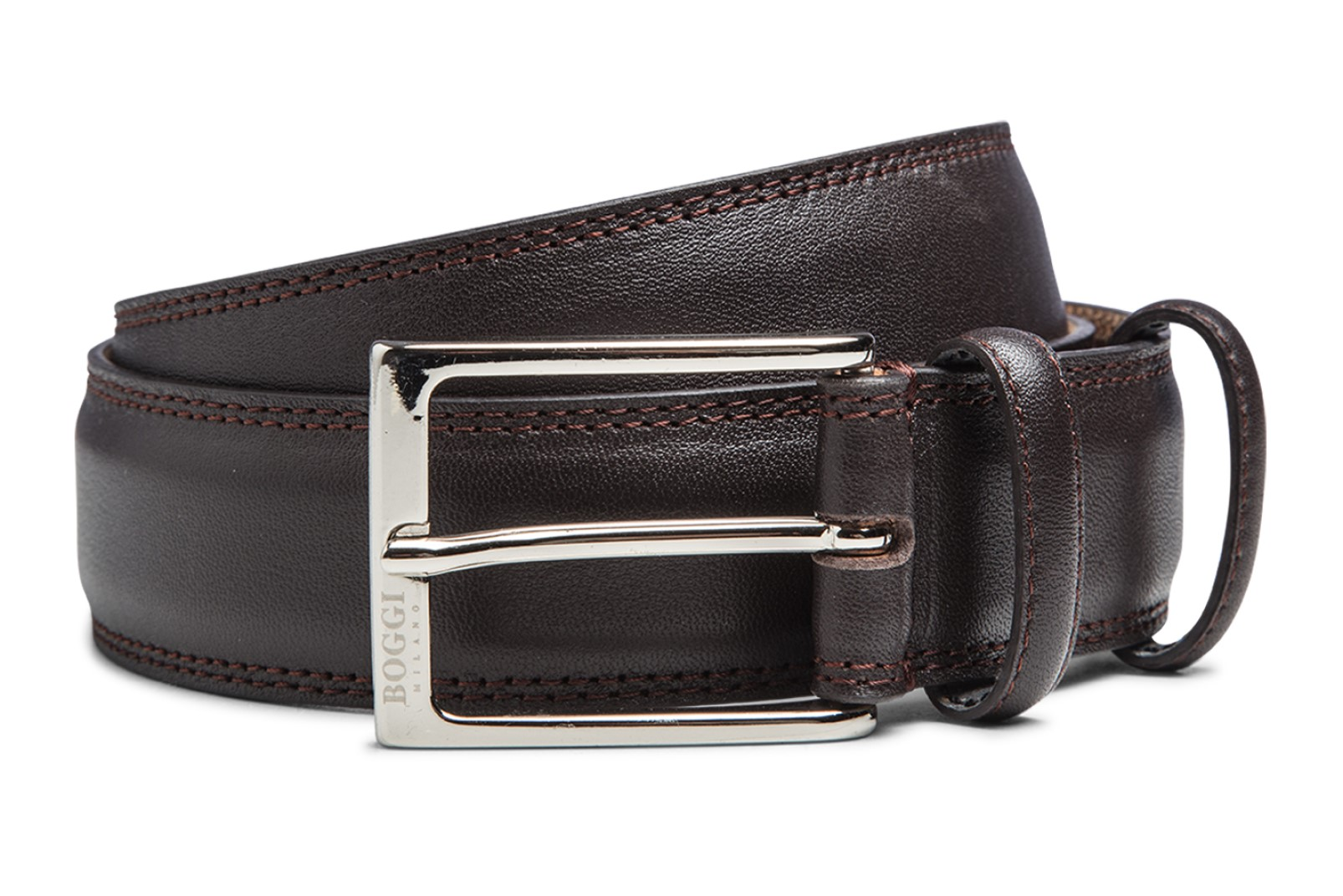 Leather belt by Boggi Milano BO17C010101