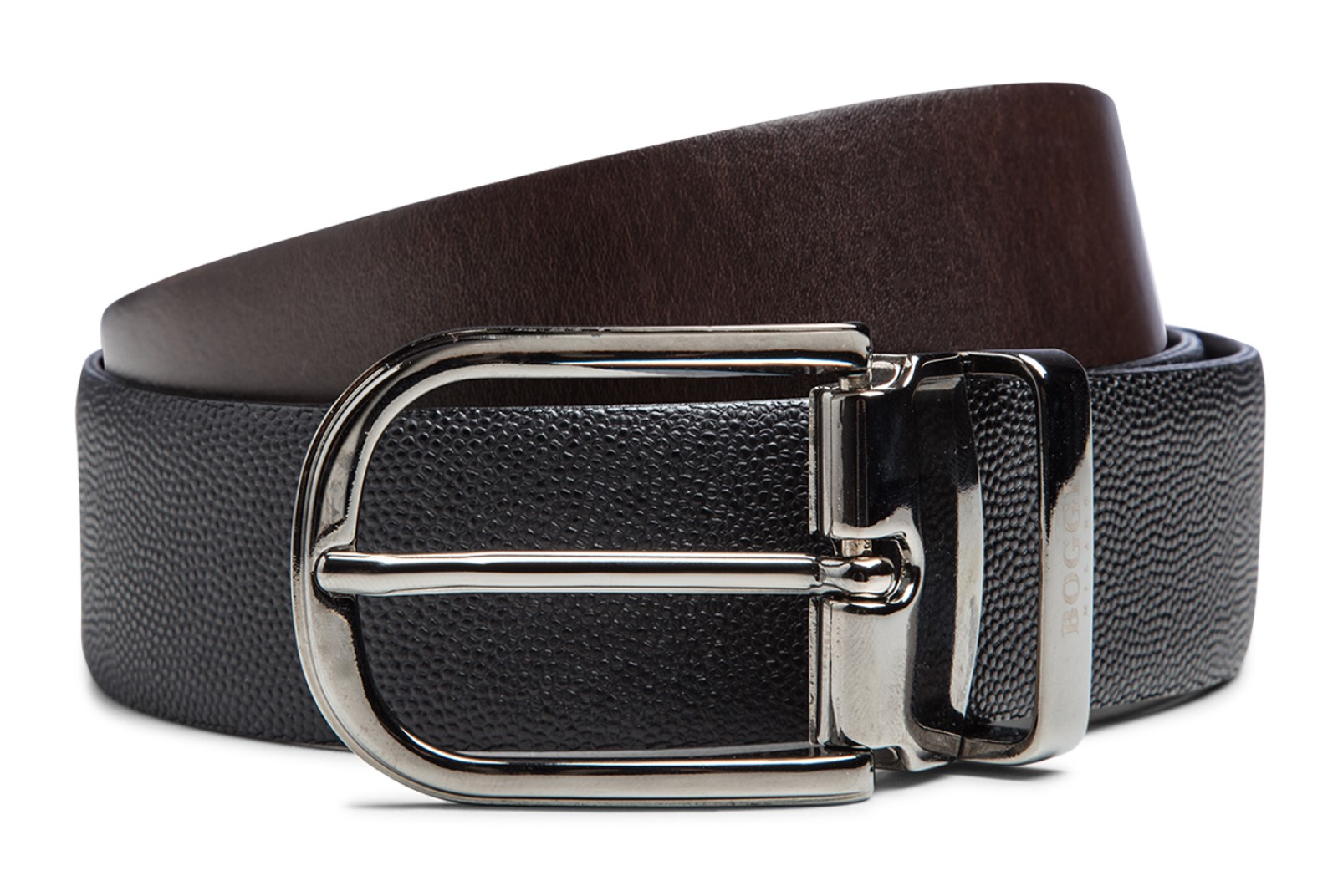 Reversible leather belt by Boggi Milano BO17C010401
